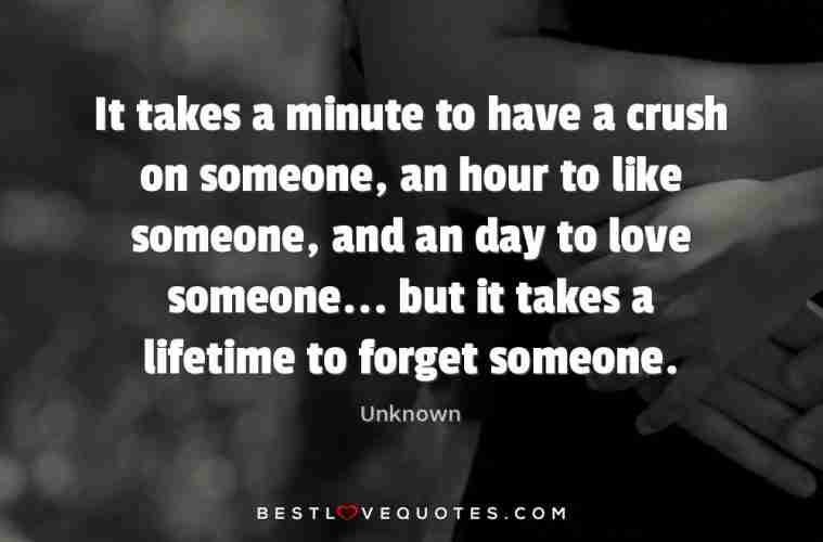 It Takes A Minute To Have A Crush On Someone An Hour To Like